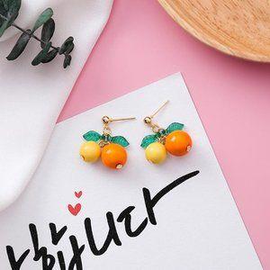 ❤️️NEW UNIQUE Cute Orange Handmade Earrings J8
